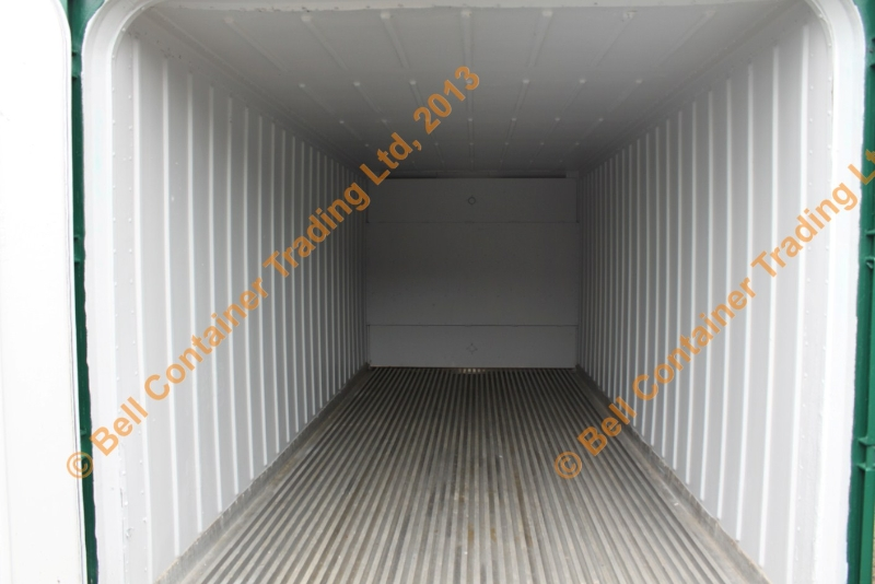 interior of insulated shipping container
