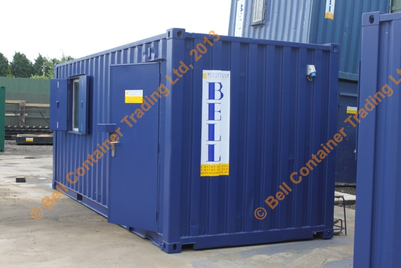 office container combined with storage section